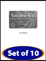 VOCABU-LIT / BOOK J | TEST BOOKLETS (10)
