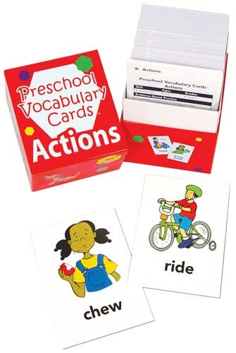 PRESCHOOL VOCABULARY CARDS / ACTIONS