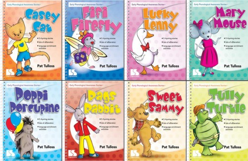 EARLY PHONOLOGICAL AWARENESS STORIES (SET OF 8 BOOKS)