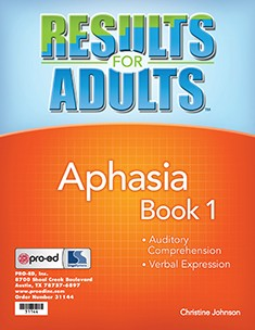RESULTS FOR ADULTS / APHASIA BOOK 1