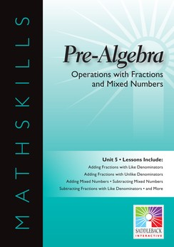 MATHSKILLS / IWB / PRE-ALGEBRA / OPERATIONS WITH FRACTIONS