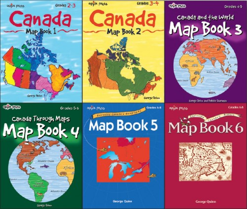 Map Of Canada Grade 6.Canada Map Book Series Set Of 6