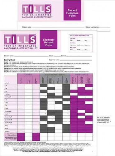 TILLS FORMS SET (EXAMINER & STUDENT FORMS)