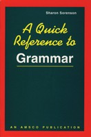 A QUICK REFERENCE TO GRAMMAR