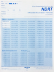 NDRT Self-Scorable Answer Sheets (for Forms I & J) (50 sheets)
