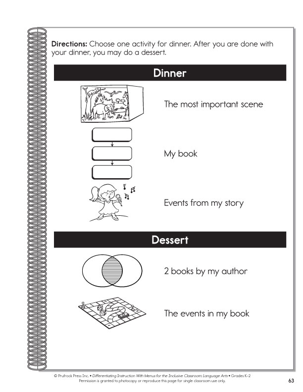 differentiated instruction language arts